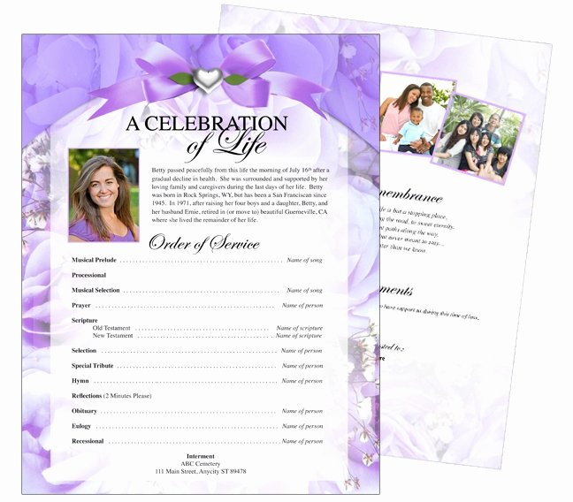 Celebration Of Life Template Free Beautiful 12 Best Cards Funeral Templates & Programs Images On