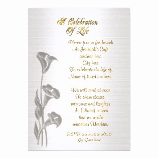 Celebration Of Life Template Free Beautiful Memorial Invitations Celebration Life