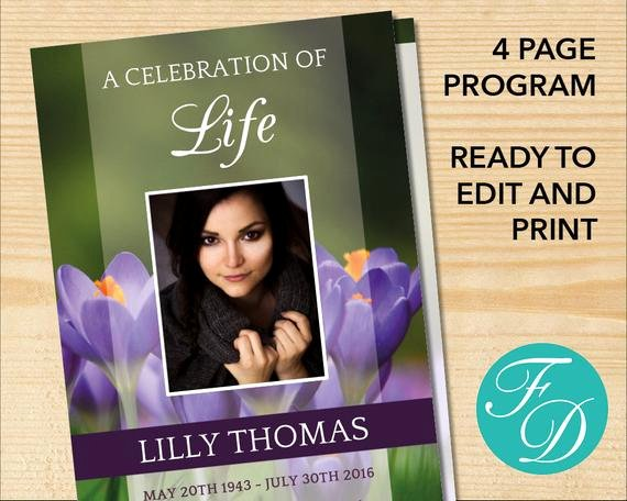 Celebration Of Life Template Free Elegant Celebration Of Life Printable Funeral Program Template