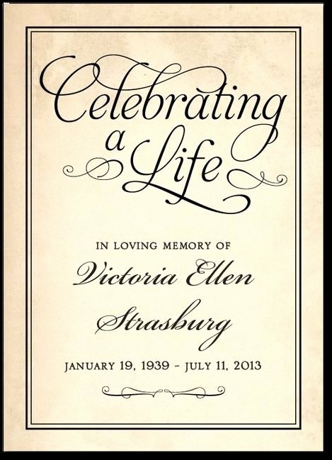 Celebration Of Life Template Free Fresh 1000 Images About Memorial On Pinterest
