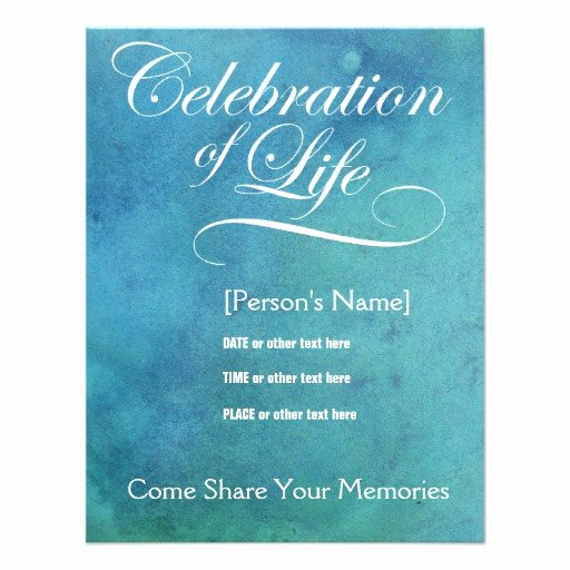 Celebration Of Life Template Free Inspirational 4 000 Memorial Invitations Memorial Announcements