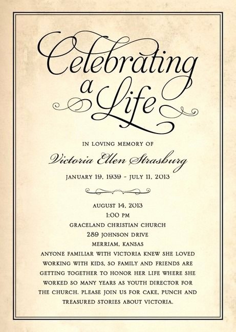 Celebration Of Life Template Free Unique Celebration Of Life Funeral Program