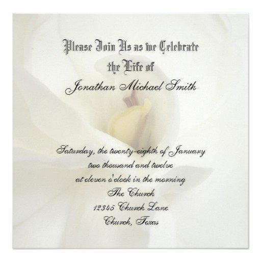 "Celebration Of Life Template Free Unique Celebration Of Life Invitation 5 25"" Square Invitation"