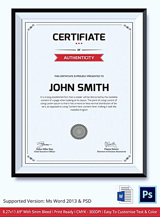Certificate Of Authenticity Template Elegant Certificate Of Authenticity Template What Information to