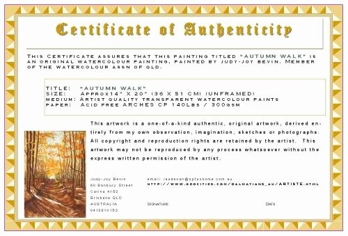 "Certificate Of Authenticity Template Elegant Looking for ""certificate Of Authenticity"" Template Wetcanvas"