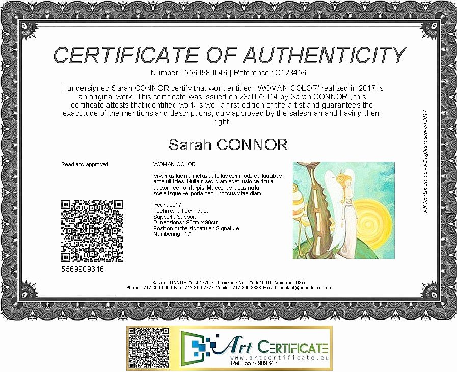 Certificate Of Authenticity Template Lovely Artcertificate