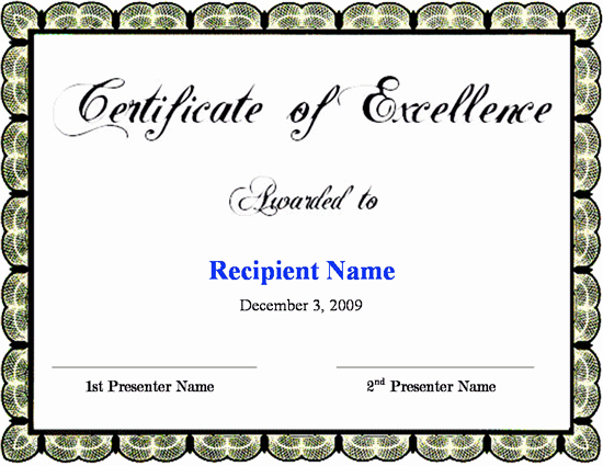 Certificate Of Excellence Template Awesome Download Fice 2007 Tr Mimec
