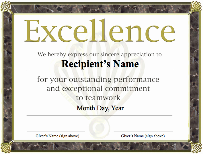 Certificate Of Excellence Template Elegant Templates Clipart Excellence Pencil and In Color