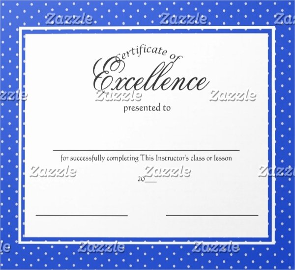 Certificate Of Excellence Template Inspirational Excellence Certificate Template 22 Word Pdf Psd