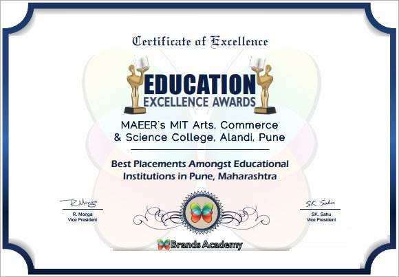 Certificate Of Excellence Template New Certificate Of Excellence 7 Premium and Free Pdf Download