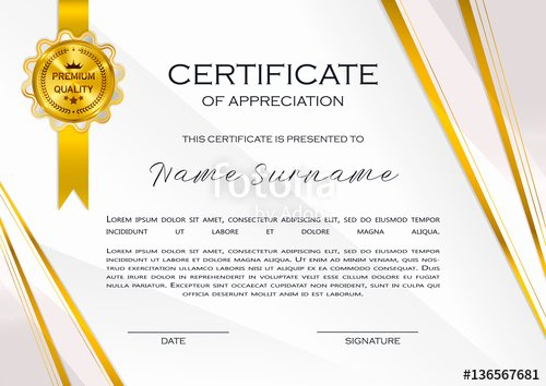"""Certificate Of Quality Template Awesome """"qualification Certificate Of Appreciation Female Design"""