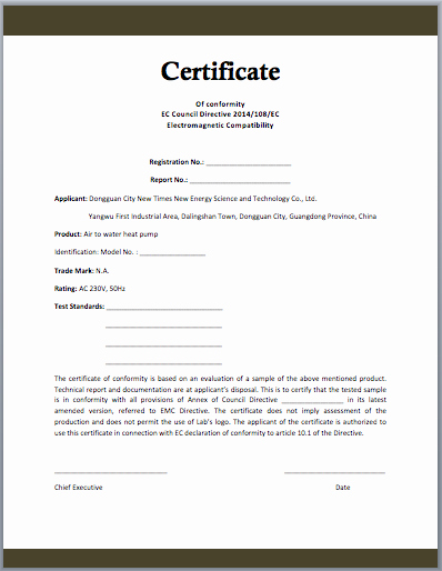 Certificate Of Quality Template Best Of Conformity Certificate Template Microsoft Word Templates