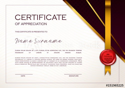 Certificate Of Quality Template Fresh Qualification Certificate Of Appreciation Geometrical