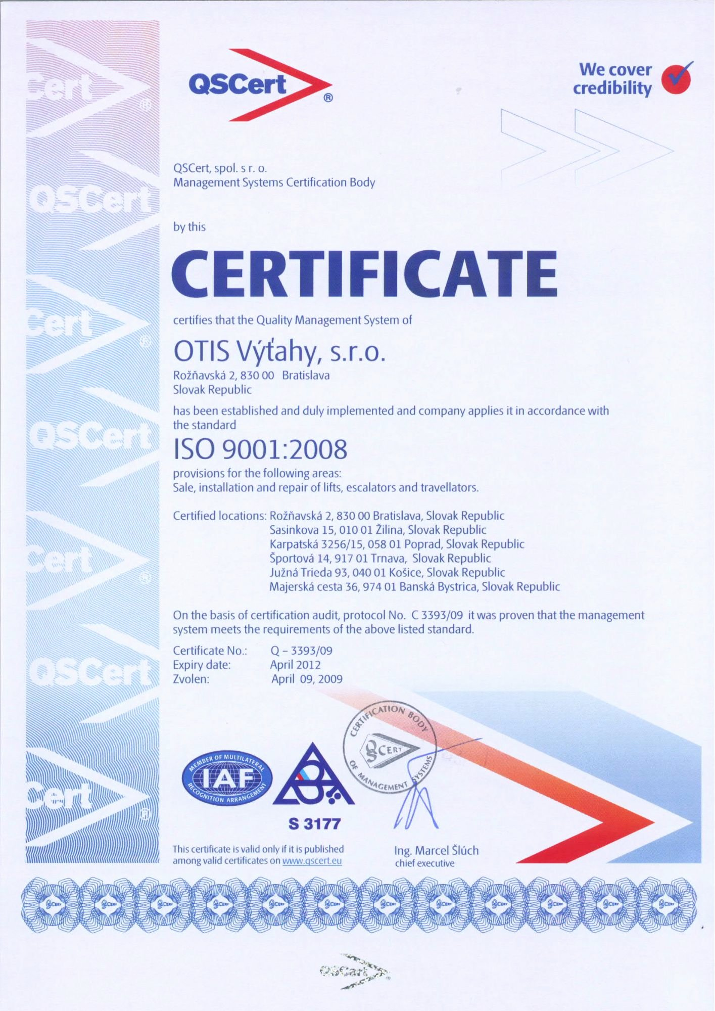 Certificate Of Quality Template Inspirational iso 9001 Qscert
