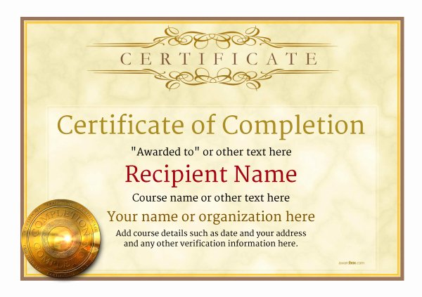 Certificate Of Quality Template Lovely Certificate Pletion Template Free Download