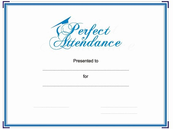 Certificate Of Quality Template Luxury Award Your Student or Employee for Perfect attendance