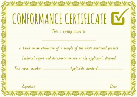 Certificate Of Quality Template Luxury Certificate Of Conformance Template 10 High Quality