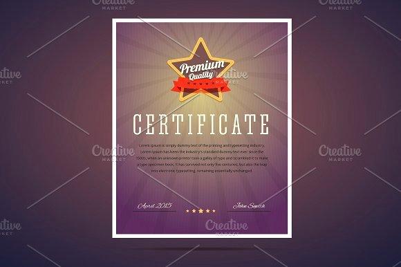 Certificate Of Quality Template Luxury Premium Quality Certificate Flyer Templates Creative