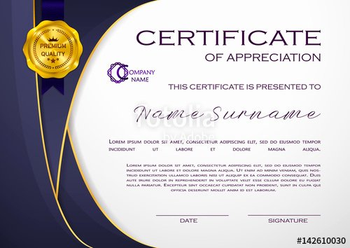 """Certificate Of Quality Template Luxury """"qualification Certificate Of Appreciation Geometrical"""
