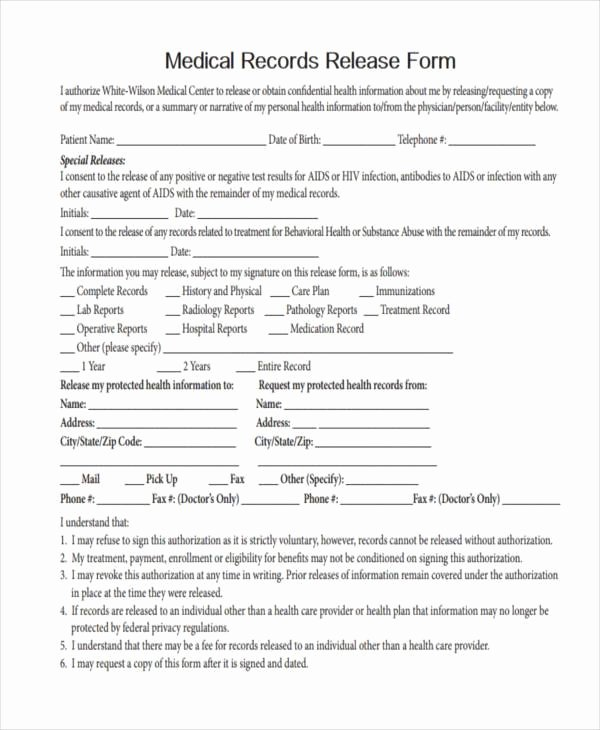 Certification Of Medical Records form Inspirational Free Medical form