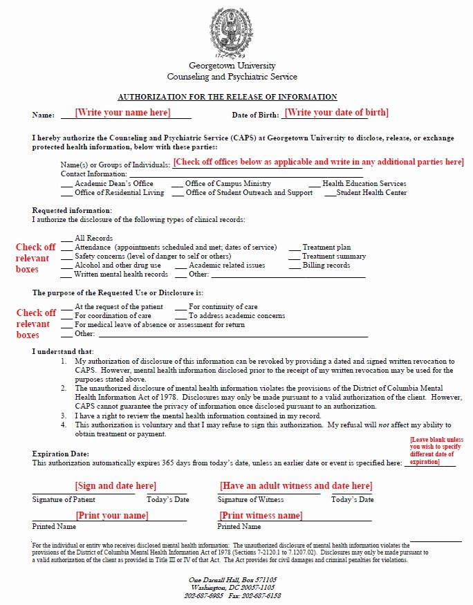 Certification Of Medical Records form Inspirational Instructions for Authorization for Release Of Information