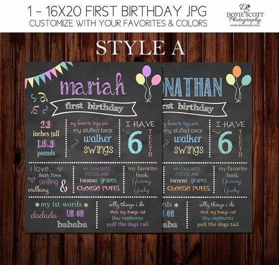 Chalkboard Birthday Sign Template Lovely 1000 Ideas About First Birthday Chalkboard On Pinterest