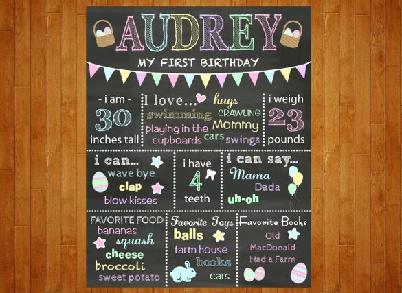 Chalkboard Poster Template Free Beautiful 16 Easter Poster Templates – Free Sample Example format