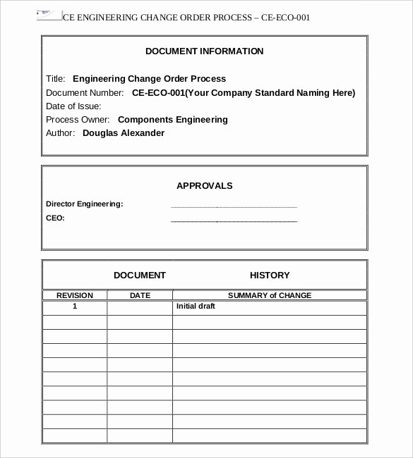 Change order Template Excel Best Of 16 Change order Templates Word Pages