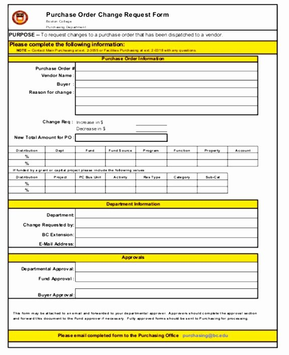 Change order Template Excel Inspirational 7 Bank Change order form Template Taeew