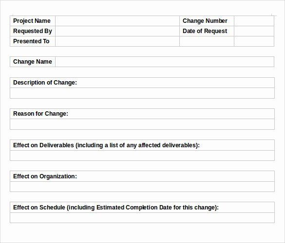 Change order Template Word Inspirational 11 Change order Templates to Download