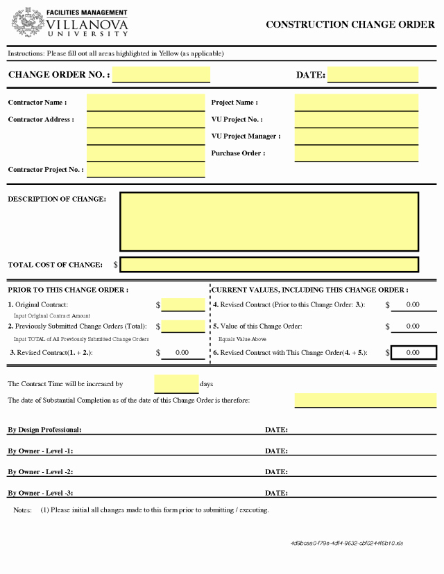 Change order Template Word Lovely Change order Templates Find Word Templates
