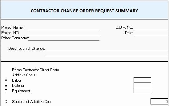 Change order Template Word Luxury Free Construction Project Management Templates In Excel