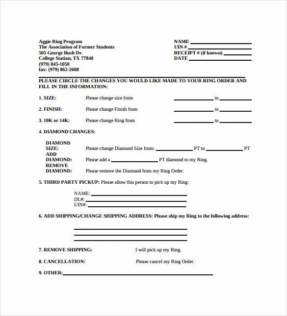 Change order Template Word New 13 Change order Templates