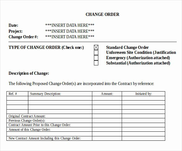 Change Request form Template Excel Elegant 16 Change order Templates Word Pages