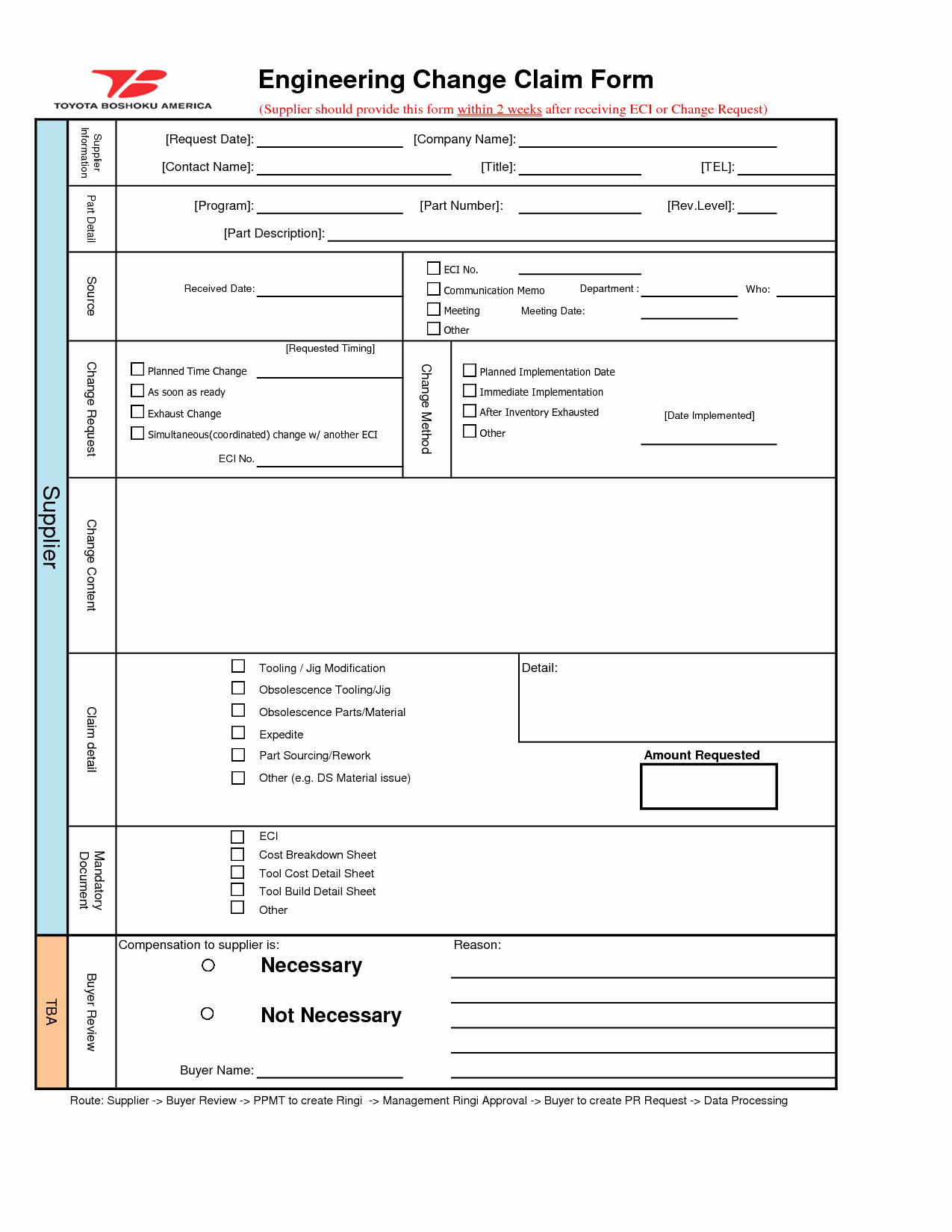 Change Request form Template Excel Fresh Engineering Change order Template
