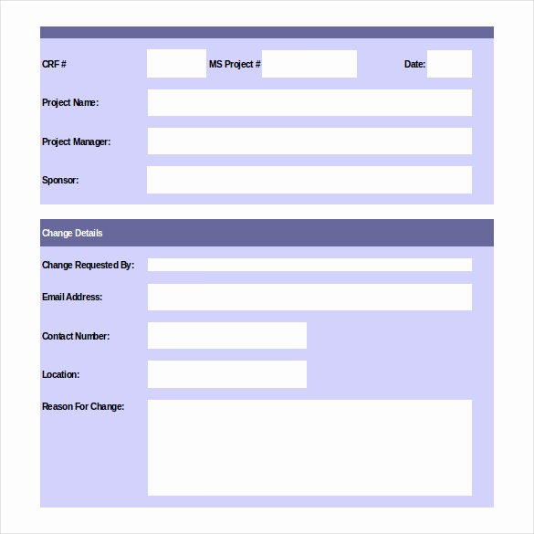 Change Request form Template Excel New 24 Change order Templates Pdf Doc
