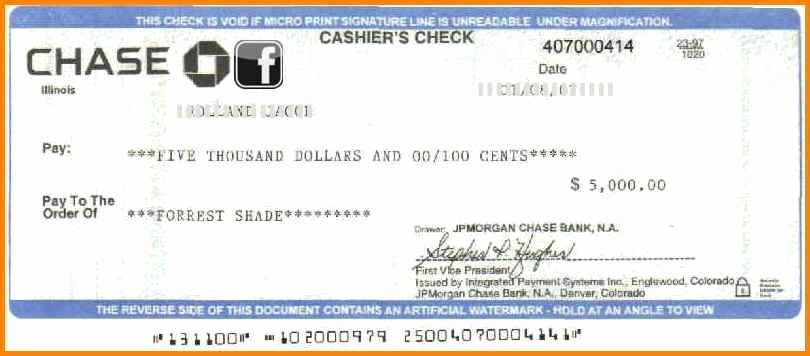 Chase Bank Check Template Fresh 12 Cashier Check Template