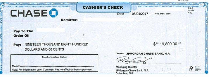 Chase Bank Check Template Luxury Investigators Return $20 000 to Fraud Victim