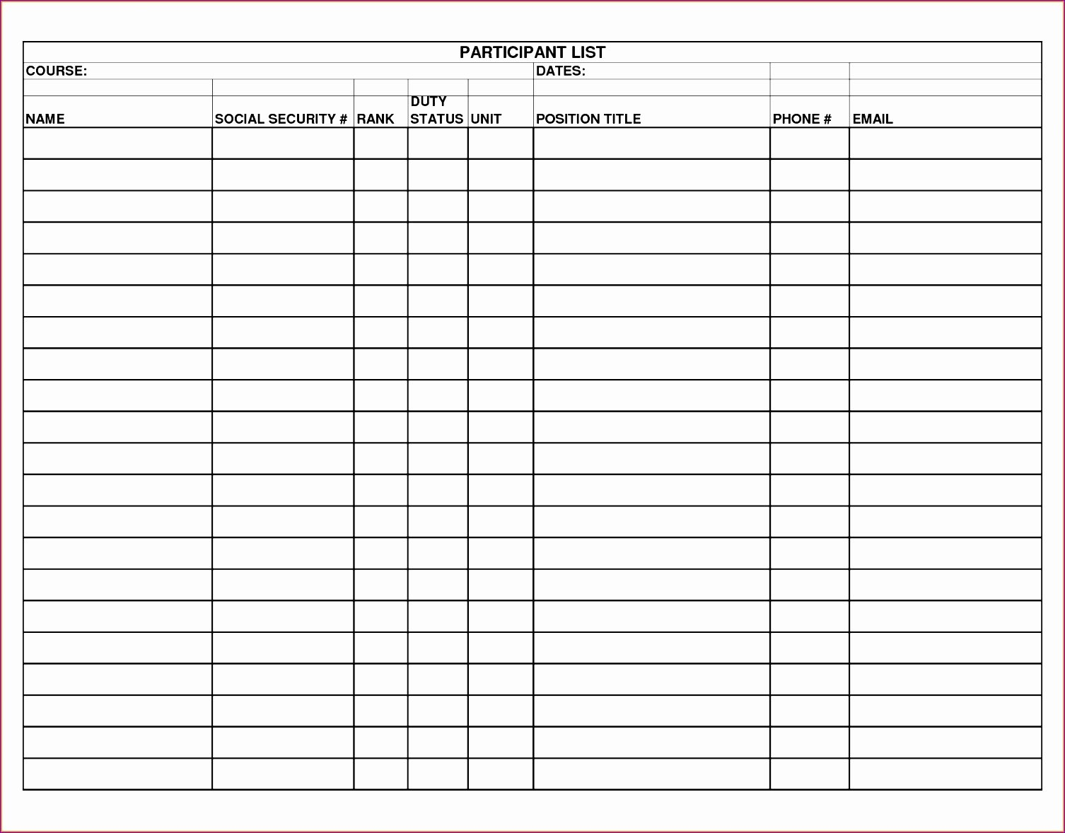 Check Off List Template Lovely 8 Check F List Template Excel Exceltemplates