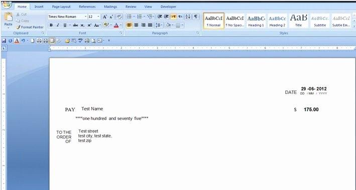 Check Printing Template Word Elegant Download Free software Bank Check Printing Template