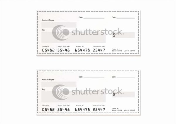 Check Printing Template Word Fresh 24 Blank Check Template Doc Psd Pdf & Vector formats