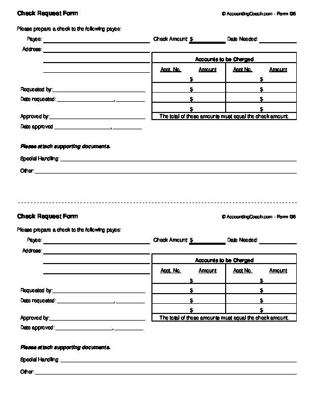 Check Request form Template Lovely Check Request form Business forms