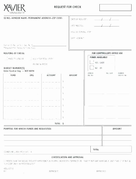 Check Request form Template Luxury Check Request form Template Excel – Kingest