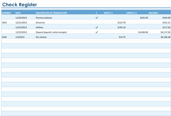 Checkbook Register Template for Mac Unique Checkbook Register Template