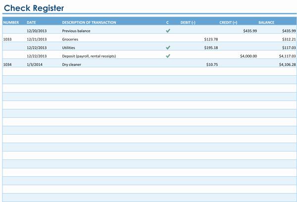 Checkbook Register Template for Mac Unique Checkbook Register Template