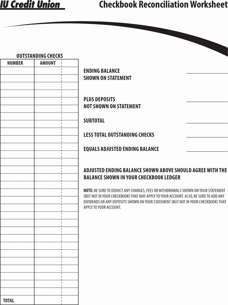 Checking Account Balance Sheet Template Elegant 7 Check Register Template Free Download