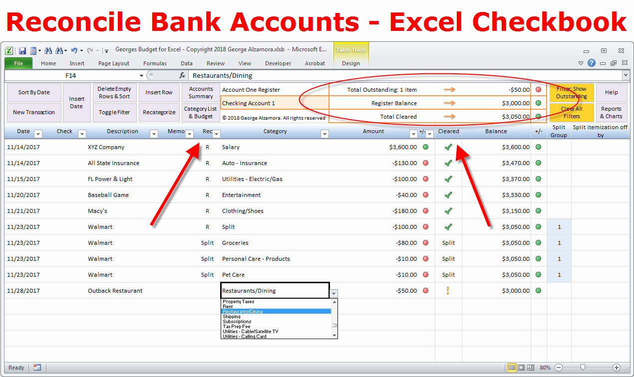 Checking Account Balance Sheet Template Elegant How to Reconcile Bank Account and Balance Checkbook