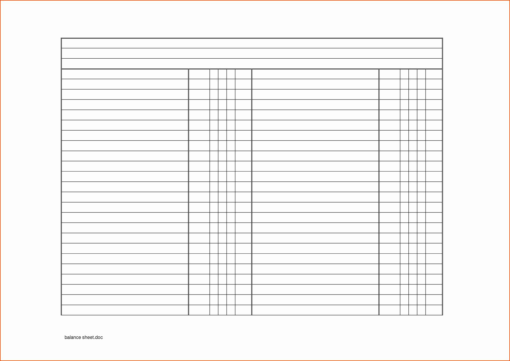 Checking Account Balance Sheet Template Fresh 8 Blank Balance Sheet Bookletemplate