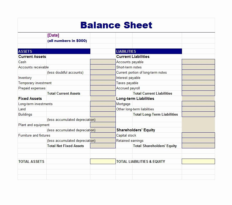 Checking Account Balance Sheet Template Unique 38 Free Balance Sheet Templates & Examples Template Lab