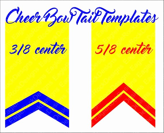 Cheer Bow Template Download Best Of Cheer Bow Tails Svg Dxf Eps Cut File for Cameo and